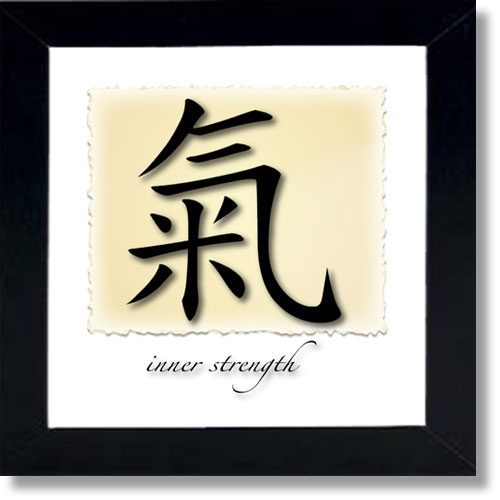 Chinese Symbols For Words Framed Wall Art